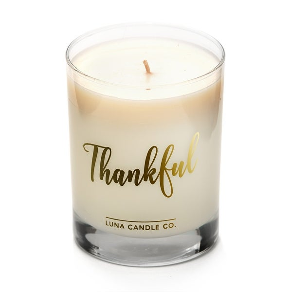 Thankful - Apple Cinnamon Scented Luxurious Candles - 11 Oz