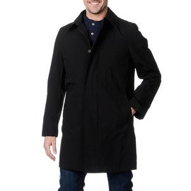 Nautica Men's Hooded Black Raincoat