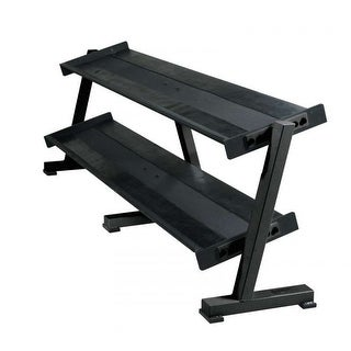 York 2 Tier Tray Dumbbell Rack