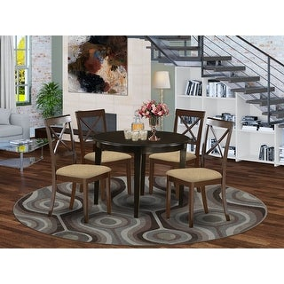Link to Small 5-piece Round Table and 4 Dining Chairs Similar Items in Dining Room & Bar Furniture