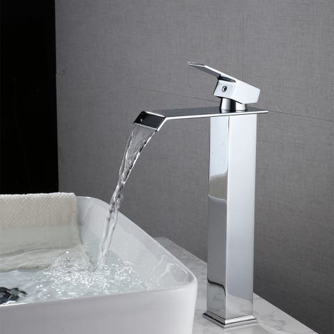 Hot And Cold Single Control Bathroom Basin Waterfall Faucet - 8' x 10'