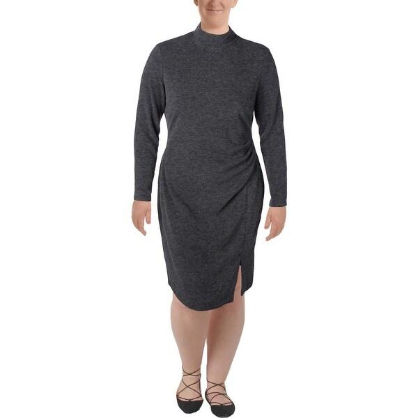 Lauren Ralph Lauren Womens Sweaterdress Mock Turtleneck Long Sleeve
