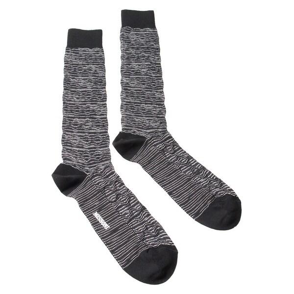 Missoni GM00CMU5244 0006 Black/White Knee Length Socks - M