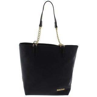 Kenneth Cole Reaction Womens Jessica Tote Handbag Faux Leather Signature - Large