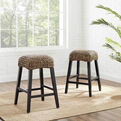"""Edgewater 2Pc Backless Counter Stool Set - 18""""d x 18""""w x 26.25""""h"""