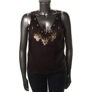 Ralph Lauren Womens Sequined Sleeveless Tank Top - 4
