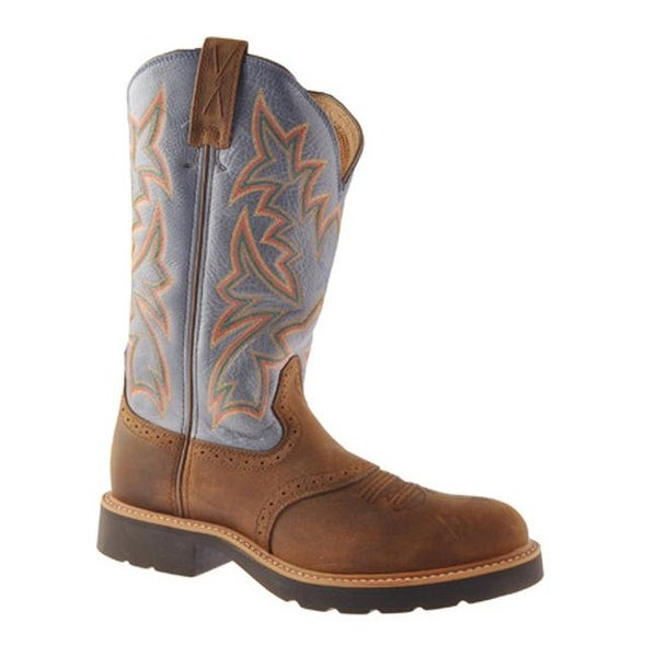 Shop Twisted X Boots Leather Men's MCW0002 Distressed Saddle/Denim Leather Boots - - 9260220 9c4dd5