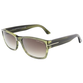 Tom Ford FT0445/S 95K MASON Clear Green Rectangular sunglasses