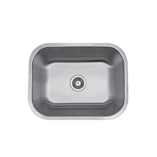 "Builder's Choice 23"" Undermount Single Bowl Stainless Steel Sink"