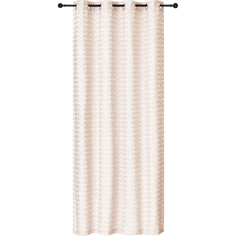 """Curtain Panel Crinkle Panel Woven 84L Taupe - 84"""" x 54"""""""