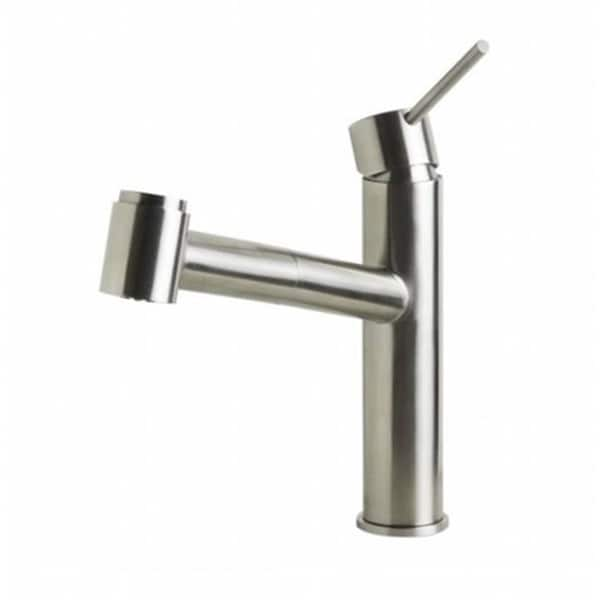 Shop Kitchen Faucet With Pull Out Spray Brushed Stainless Steel