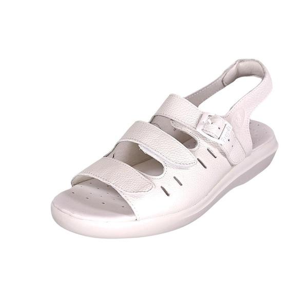 Propet Breeze Walker Womens White Grain Sandals