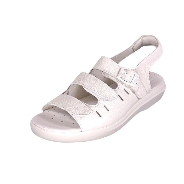 Propet Breeze Walker Women White Grain Sandals