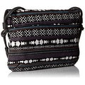 Twig & Arrow Womens Crossbody Handbag Canvas Printed - Black Multi - small - Thumbnail 1