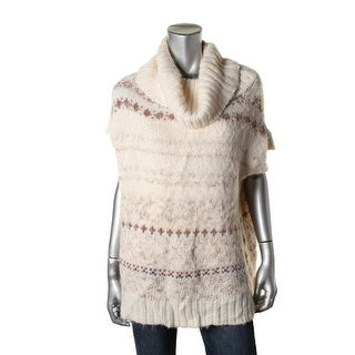 Free People Womens Wool Blend Cowl Neck Pullover Sweater - M