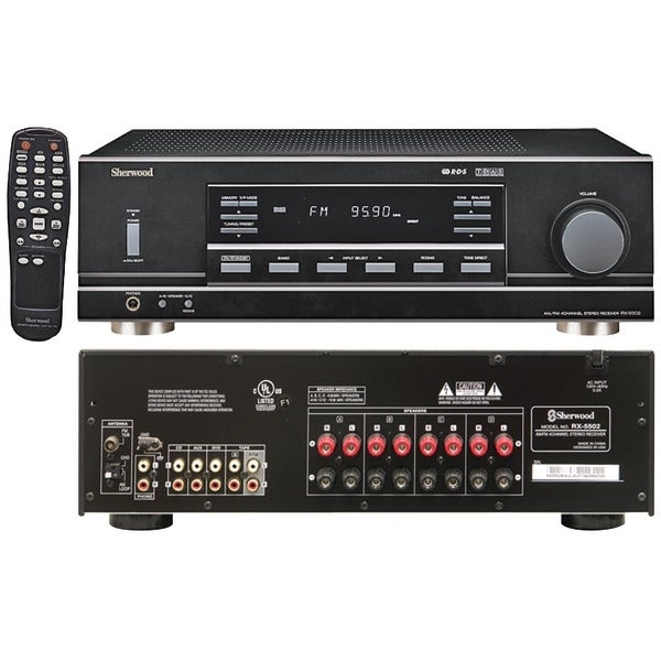 Sherwood Rx-5502 4-Channel, 100-Watt Multisource, Dual-Zone A/V Receiver