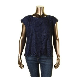 Vince Camuto Womens Blouse Lace Sleeveless
