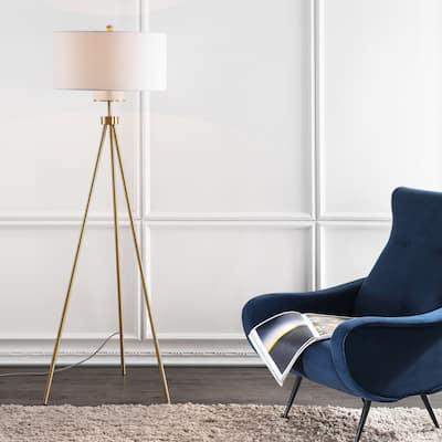 "SAFAVIEH Lighting 66-inch Enrica Tripod LED Floor Lamp - 25"" x 25"" x 66"""