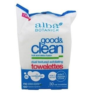Alba Botanica Good & Clean Txtr Exfltng Twlt 30-count
