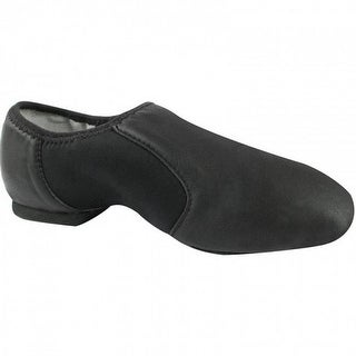 Black Leather Neoprene Split-Sole Jazz Shoes 5-11 Womens