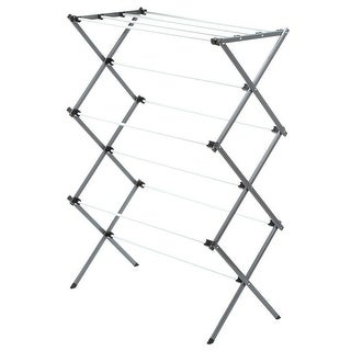 "Honey Can Do DRY-01306 Folding Clothes Drying Rack,42"", Silver/White."