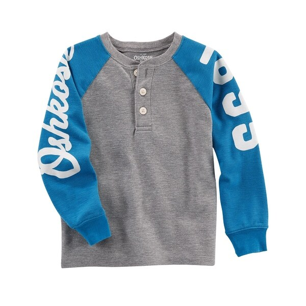 5f6857c8b Shop OshKosh B'gosh Baby Boys' Thermal Logo Henley, 18 Months - gray - Free  Shipping On Orders Over $45 - Overstock - 22123636