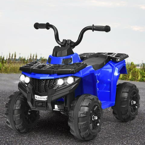 6V Battery Powered Kids Electric Ride on ATV-Blue - Blue