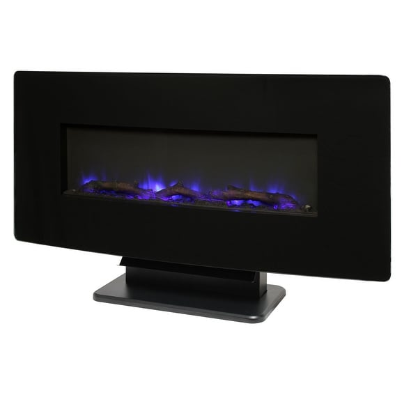 "Muskoka SF310C-36 4600 BTU 36"" Wide Wall Mounted Vent Free Electric Fireplace - Black"