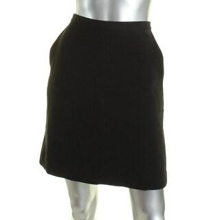 Anne Klein Womens A-Line Skirt Pockets A-Line