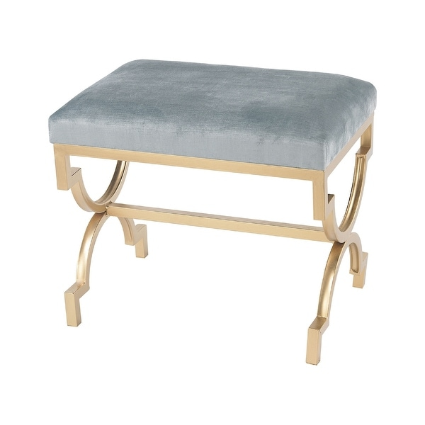 """21"""" Blue and Gold Comtesse Bench - N/A"""