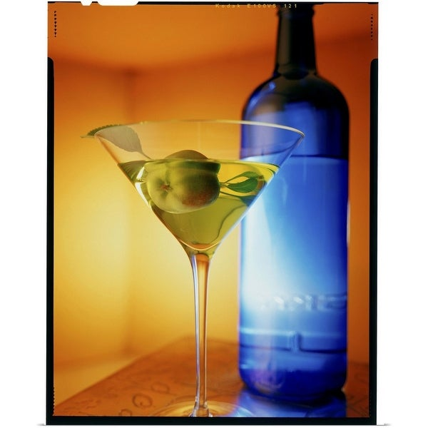 """""""Martini and blue bottle"""" Poster Print"""