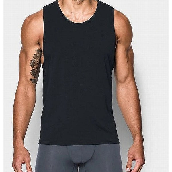 45155822e1e Shop Under Armour Black Mens Size Large L Sleeveless Scoop Neck Tank Top -  On Sale - Free Shipping On Orders Over $45 - Overstock - 27198910