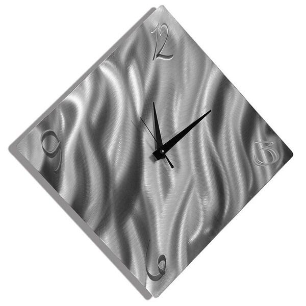 Statements2000 Silver 17-inch Metal Wall Clock by Jon Allen - Final Countdown