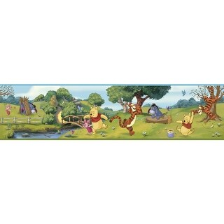 York Wallcoverings DS7765BD Swinging Pooh Border - Multicolor - N/A