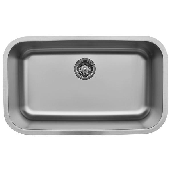 Karran Undermount Stainless Steel 31 in. Single Basin Kitchen Sink