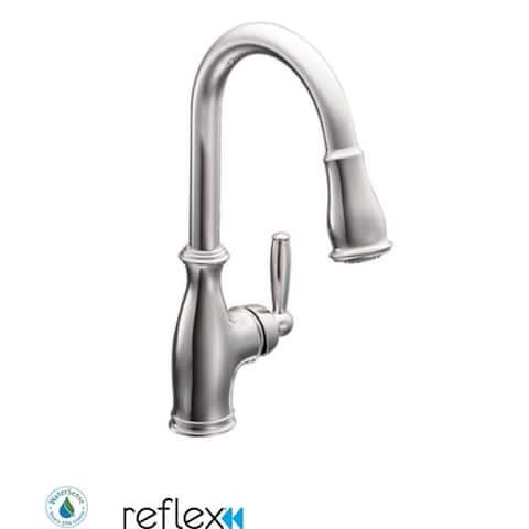 Moen 7185 Single Handle Pulldown Spray Kitchen Faucet with Reflex Technology from the Brantford Collection -