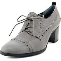 Franco Sarto Alberta Women  Cap Toe Leather Gray Oxford