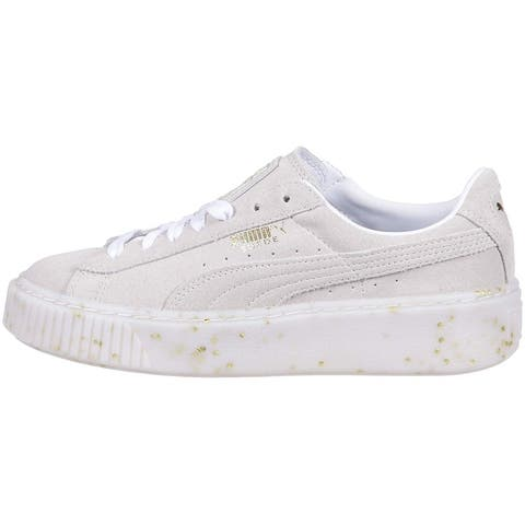 Puma Womens PLATFORM Low Top Lace Up Fashion Sneakers