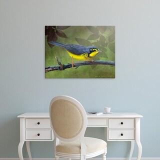 Easy Art Prints Chris Vest's 'Canada Warbler' Premium Canvas Art