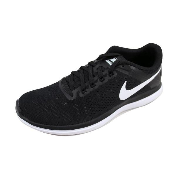 1055dbbb13a3b ... Women s Athletic Shoes. Nike Women  x27 s Flex 2016 RN Black White-Cool  Grey 830751