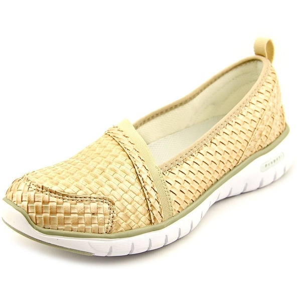 Propet Travellite Women 2A Round Toe Synthetic Tan Running Shoe