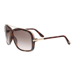 Tom Ford FT0455/S 52F BRENDA Medium Havana Rectangle Sunglasses - 62-5-130