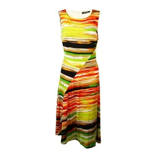 Ellen Tracy Women's Jersey Print A-Line Dress