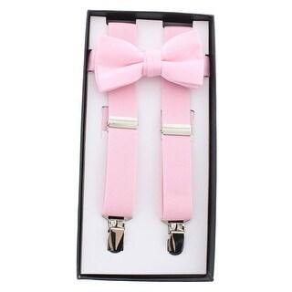 Sportoli Boys Suspender Banded Bow Tie Y Shape Suspenders - 30