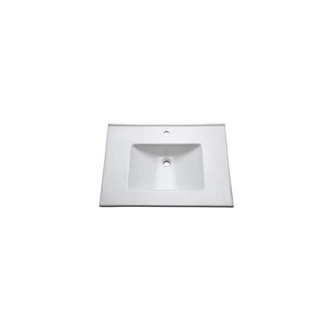 "Mirabelle MIRT31221 31"" Fireclay Vanity Top - White"