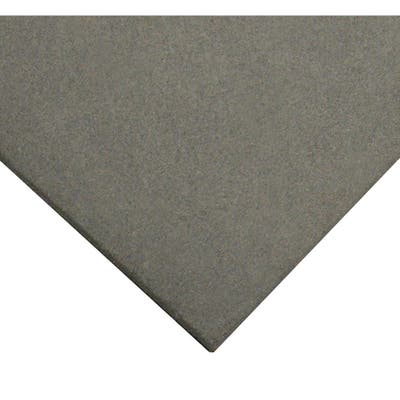 """Rubber-Cal """"Eco-Sport"""" 1-inch Interlocking Flooring Tiles - 1 x 20 x 20-inch Rubber Tile - 1 Pack - Coal in Color - 20 x 20"""