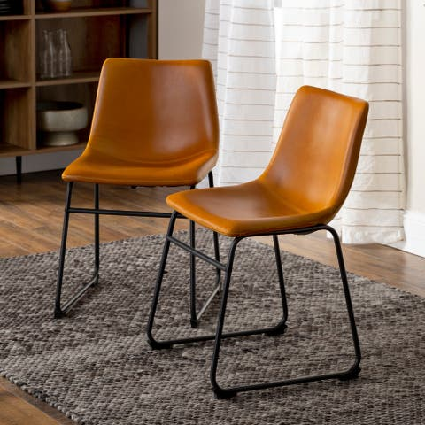 Carbon Loft Prusiner Faux Leather Dining Chair, Set of 2