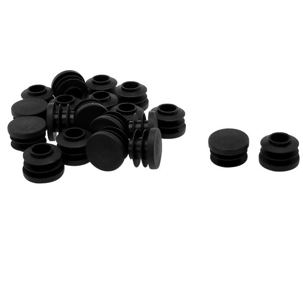 """3/4"""" 20mm OD Plastic Round Tube Ribbed Inserts End Cover Caps 20pcs"""