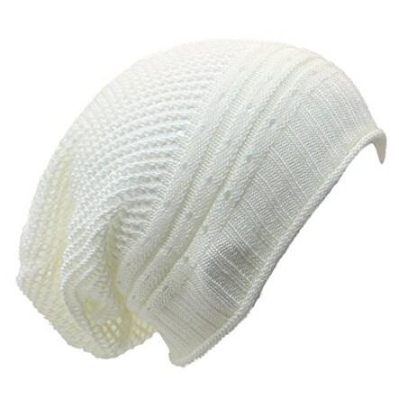 Net Crochet Lightweight Beanie Hat