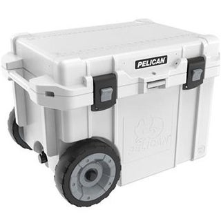Pelican 45QW-1-WHT 45 qt Elite Cooler With Built in Wheels, White